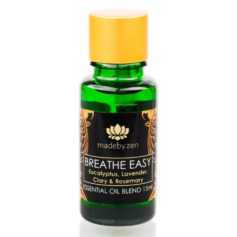 BREATHE EASY Purity Range - Scented Essential Oil Blend Made By Zen 15ml